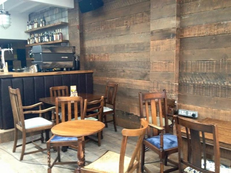 Reclaimed Wall Cladding in Bar