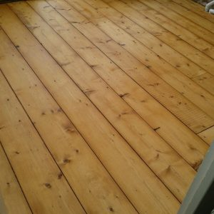 reclaimed strip pine floorboards