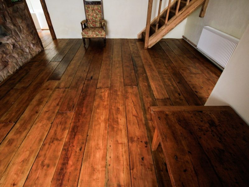 reclaimed pine flooring hall