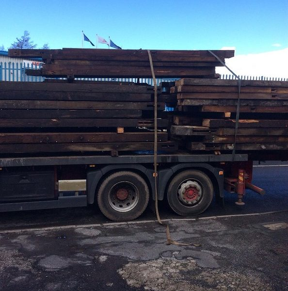 Reclaimed Wood on Lorry