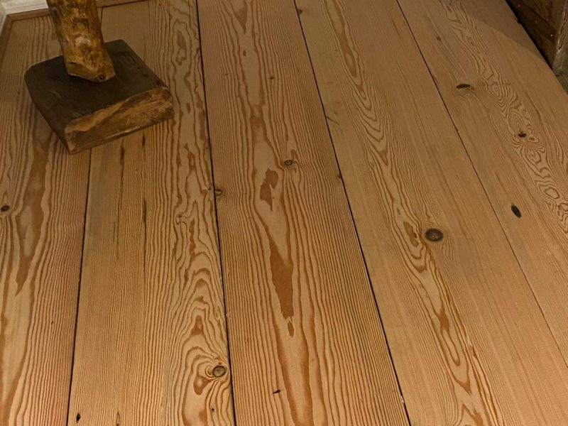 pitch pine flooring in a home