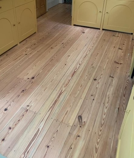 Reclaimed Pitch Pine Floorboards