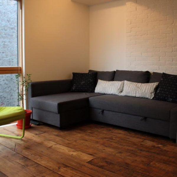 lounge with bespoke wood floorboards